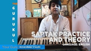 Learn Indian Classical Singing, Saptak practice and theory, Free Lessons, on The Gurukul (Eng)