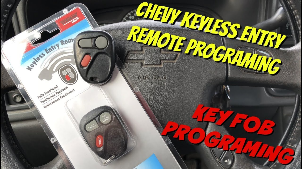 How To Program Keyless Entry Remote For Gm Chevrolet Gmc 1998 2006 Youtube