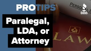 What is the Difference Between a Paralegal, A Legal Document Assistant and an Attorney
