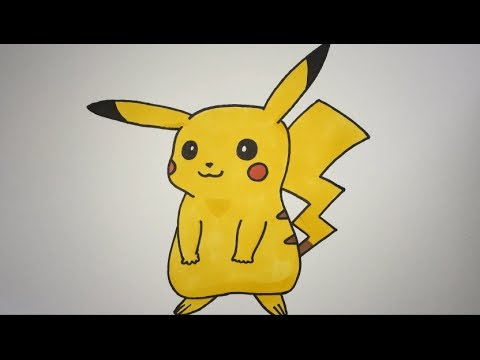 how to draw pikachu step by step youtube