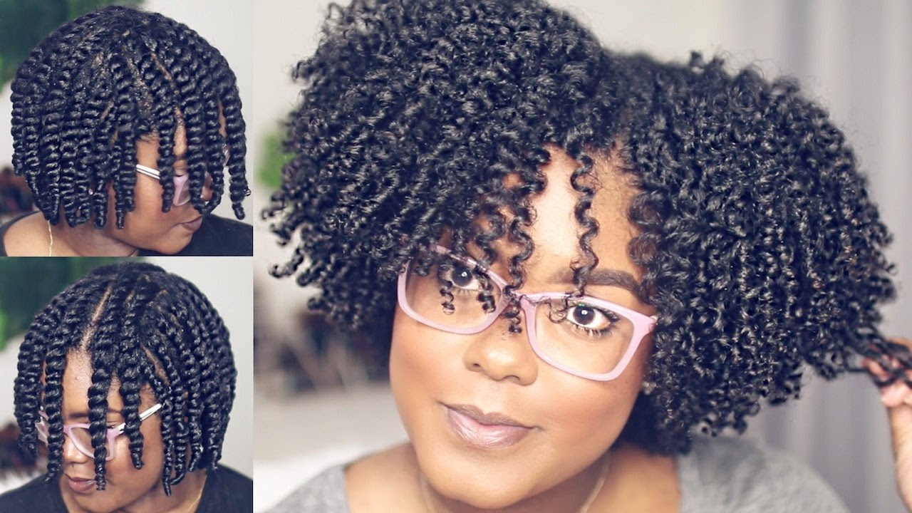 Natural Hair Styles With Marley Hair: Flat Twist-Out On Natural Hair - YouTube