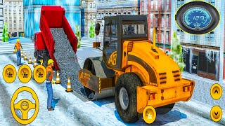 Heavy Snow excavator - Road Construction Simulator - Android GamePlay