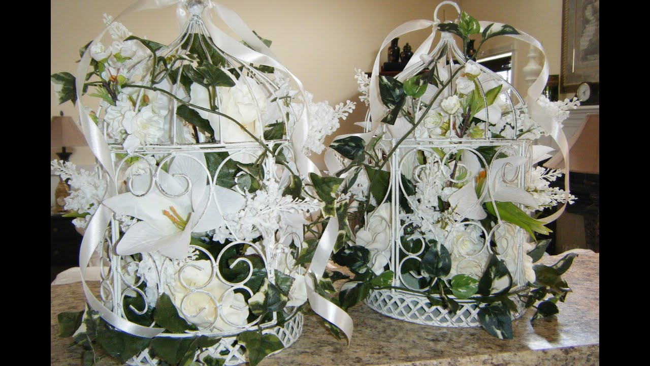 Wedding Decor How To Make Floral Birdcages Youtube