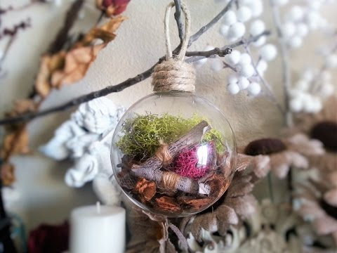 "DIY Christmas Glass Ball Ornament ""FOREST"" from Ivanka's little treasures"