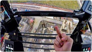 Крановщик. О стропалях и работе на высоте. The work of the crane operator.