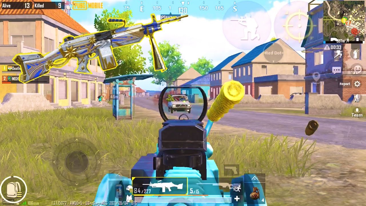 M249 vs Full Squad PUBG Mobile || Solo vs Squad || Death Gaming