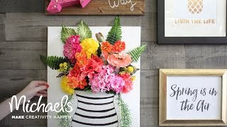 How to Make a Floral Canvas | Michaels