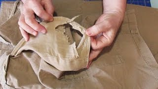 How to fix a pocket with holes - diy sewing project - #43