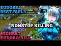 EUDORA HIGHEST KILL | EUDORA 100% BEST BUILD | EUDORA COMPLETE GUIDE