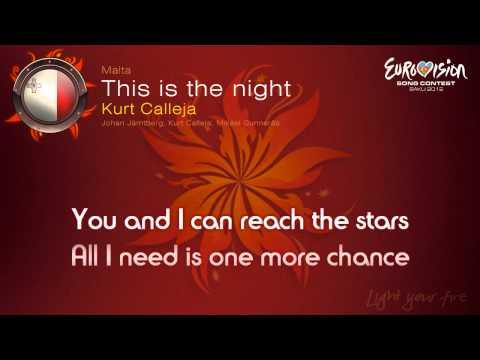 """Kurt Calleja - """"This Is The Night"""" (Malta)"""