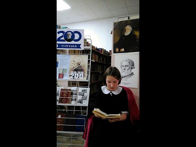 Изображение предпросмотра прочтения – ДарьянаЗайкова читает произведение «И.С.Тургенев Рассказ Муму» И.С.Тургенева