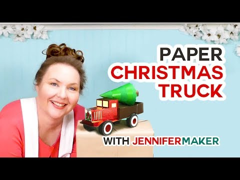 Make a Vintage Red Truck from Paper!