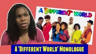 A different world monologue - marie ...