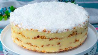 Когда не хочется долго возиться на кухне приготовьте этот кокосовый торт без выпечки Appetitno TV