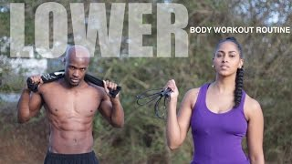LOWER BODY WORKOUT ROUTINE FOR WOMEN AT HOME | WARM UP AND COOL DOWN INCLUDED