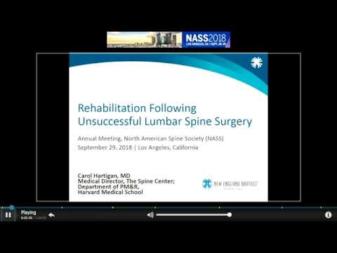 Rehabilitation Following Unsuccessful  Lumbar Spine Surgery