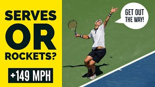 Top 10 FASTEST Tennis Serves Ever Recorded | Isner, Roddick, Karlovic, Groth & More