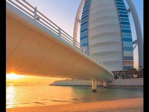 Epic Sunrise behind Burj Al Arab Dubai