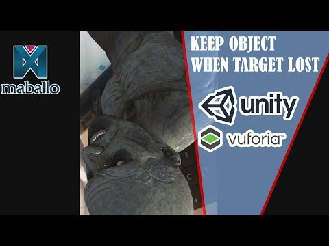Augmented Reality Vuforia Extended Tracking Keep Object Even The Target Lost
