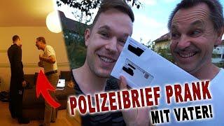 POLIZEIBRIEF PRANK MIT VATER! (Ausraster) | PvP