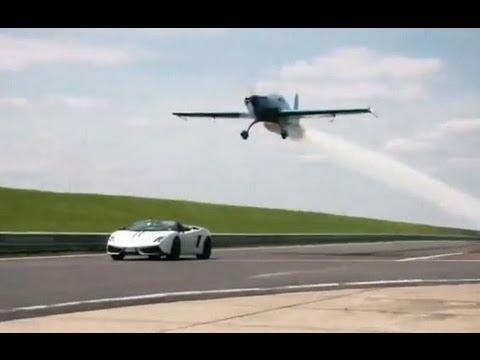 Lamborghini VS airplane - YouTube