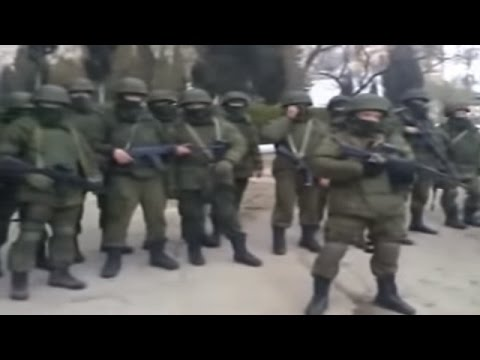 Ukraine War - Russian troops storm Ukrainian military base in Crimea Ukraine