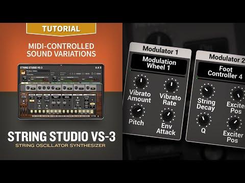 String Studio VS-3 Tutorial—MIDI-controlled sound variations