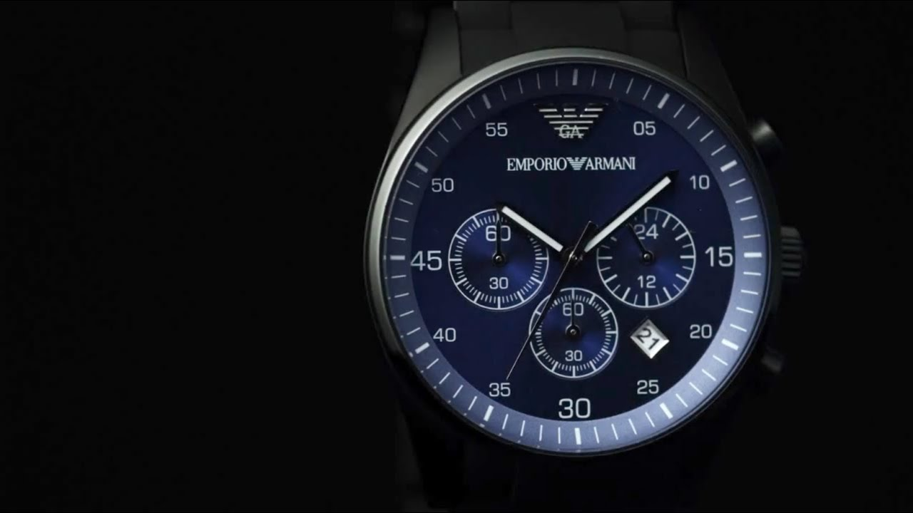 5b01881f Emporio Armani - Sportivo Watch Collection - YouTube