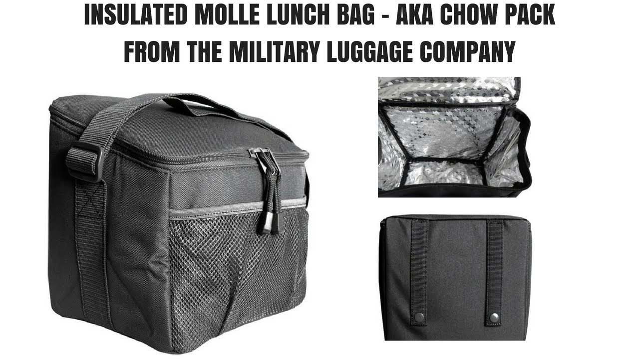 8b7ba4c9c2a7 Insulated Molle Lunch Bag - AKA Chow Pack - Military Luggage Co