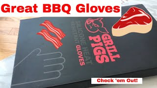 Grill Pigs - Great BBQ Gloves / Oven Mitts! Can