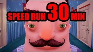 Video Hello Neighbor SPEED RUN [30 MINUTES] download MP3, 3GP, MP4, WEBM, AVI, FLV November 2018