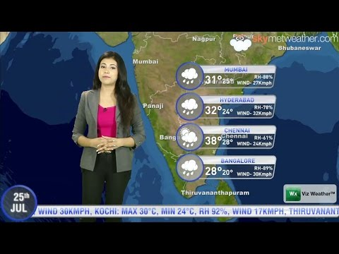 25/07/14   Skymet Weather Report For India