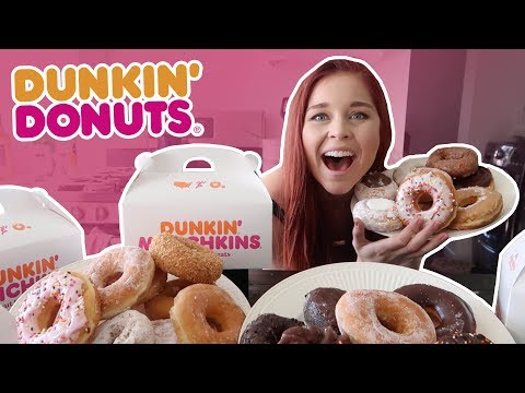 TRYING EVERY DUNKIN' DONUTS DONUT!