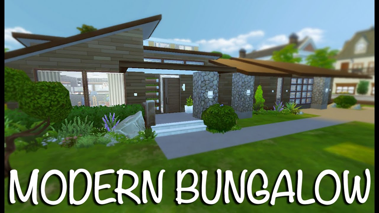 Bungalow Modern the sims 4 modern bungalow speed build
