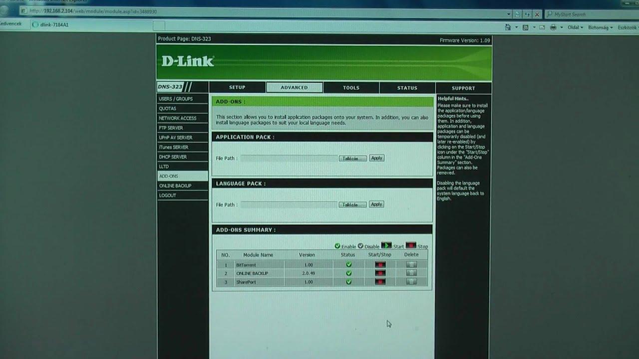 Dlink dns-323 youtube.