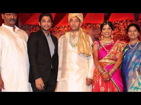 Bunny Allu Arjun and Sneha Reddy at producer Shyam Prasad
