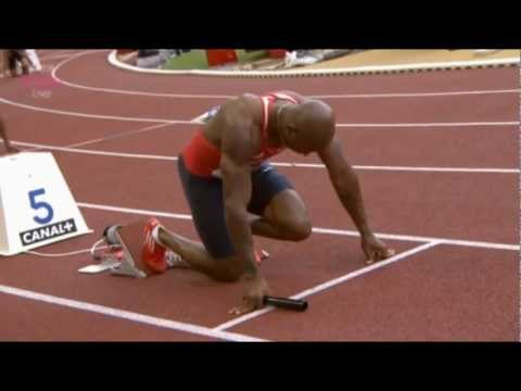 Men 4x100m Monaco 2012 - USA MEET RECORD