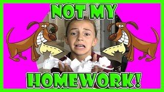 THE DOG ATE MY HOMEWORK! | We Are The Davises