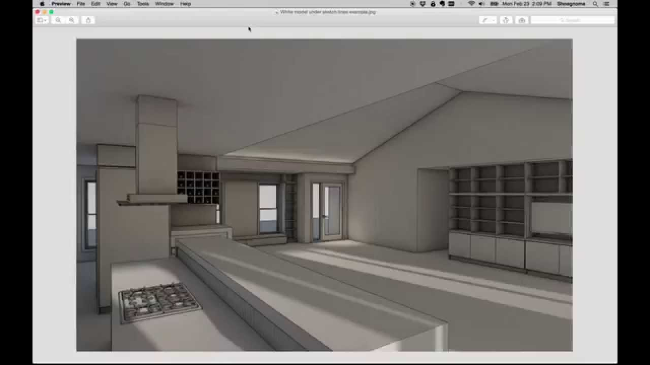 archicad tip 46 creating a composite rendering in. Black Bedroom Furniture Sets. Home Design Ideas