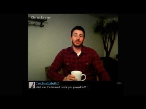 Chris Evans Q&A Video Chat with Fans - 21.08.2013