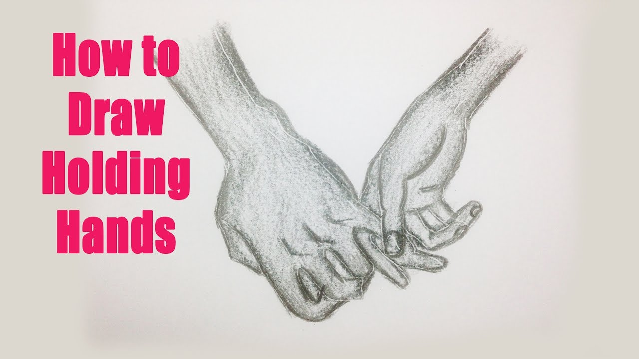 How to draw holding hands 02 boy and girl holding hands youtube videos