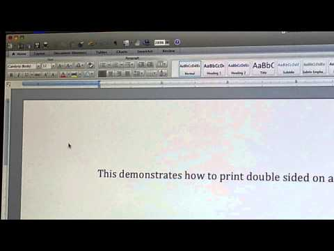 How To Print Double-sided Using A Mac Computer