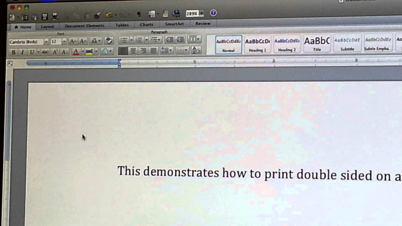 how to make mac not print double sided