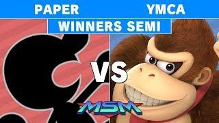 MSM 177 - Paper (Mr. Game & Watch) vs YMCA (Donkey Kong) Winners Semi - Smash Ultimate