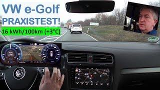 VW e-Golf 300: PRAXISTEST! (60km, +3°C) | Strominator