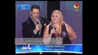 Mariela Manzilla (de Daireaux) en Cantando por un Sueño