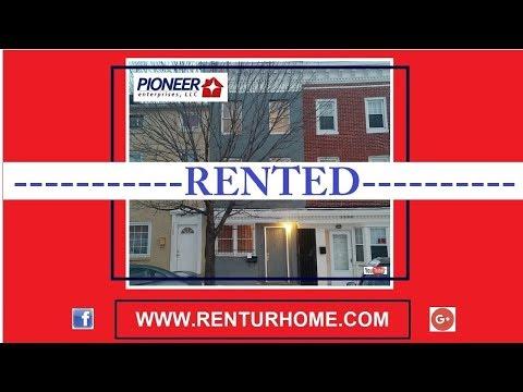 RENTAL- 1507 Bank Street, Baltimore, Maryland 21231
