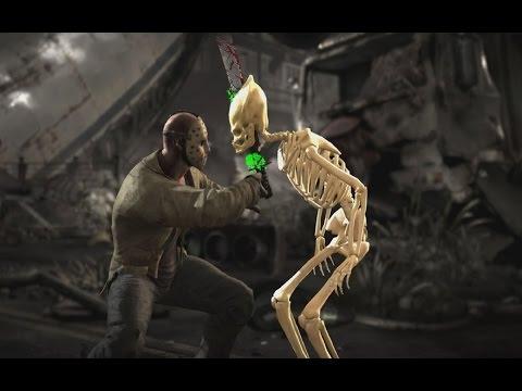 Mortal Kombat X: All XRay Moves On Skeleton Predator