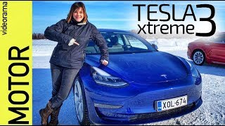 Tesla model 3 test drive EXTREMO -nieve y hielo-