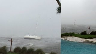 Multiple Boats Become Unmoored In Hurricane Matthew